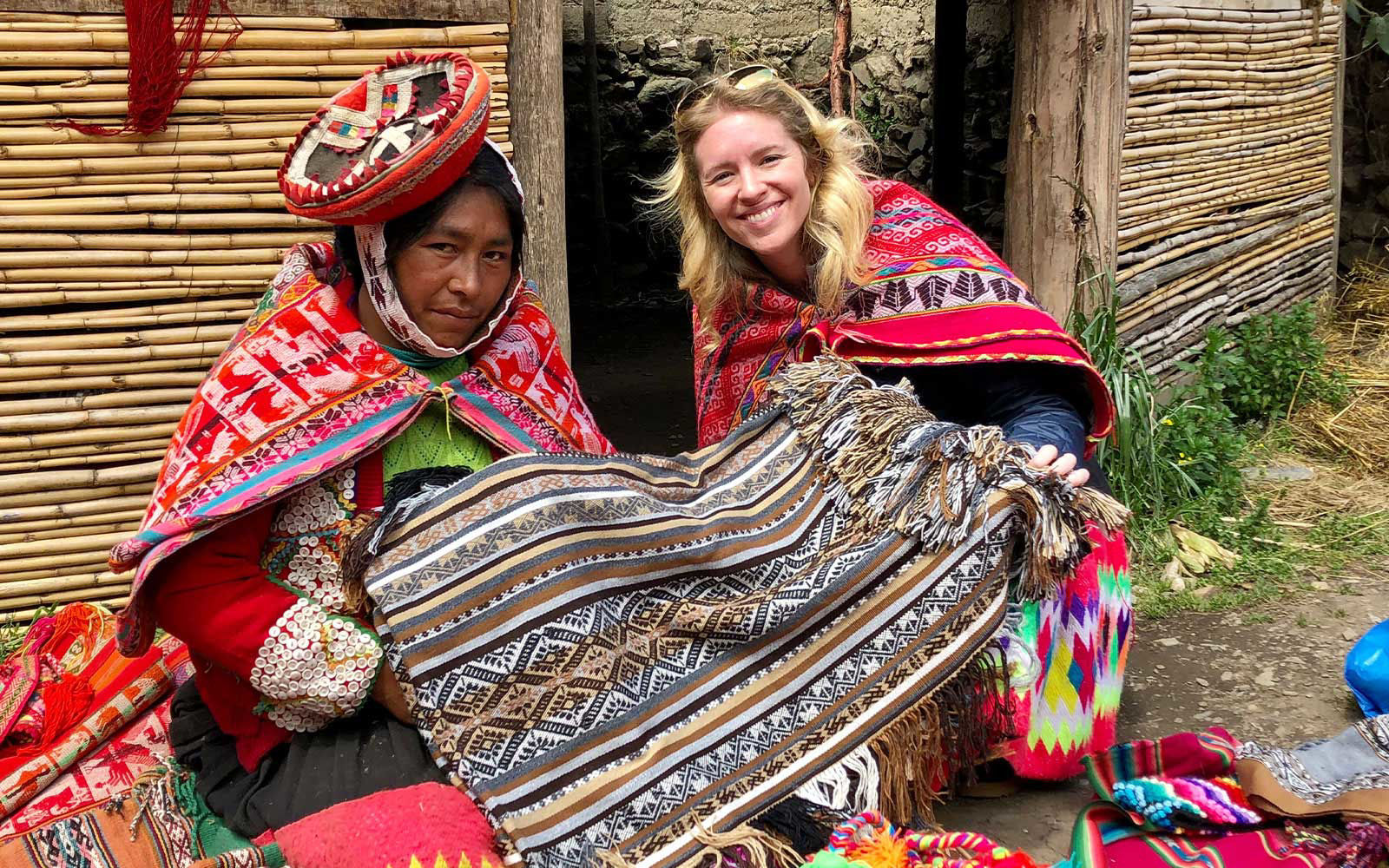 peru blanket weaving